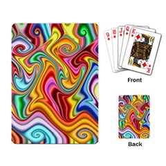 Rainbow Gnarls Playing Card by WolfepawFractals