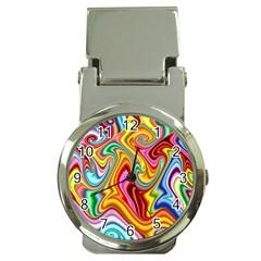 Rainbow Gnarls Money Clip Watches by WolfepawFractals