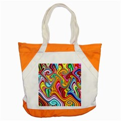 Rainbow Gnarls Accent Tote Bag by WolfepawFractals