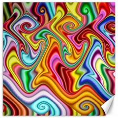 Rainbow Gnarls Canvas 12  X 12   by WolfepawFractals