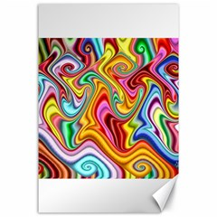 Rainbow Gnarls Canvas 24  X 36  by WolfepawFractals