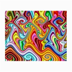Rainbow Gnarls Small Glasses Cloth (2 Side) by WolfepawFractals