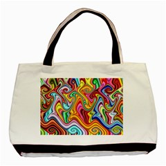 Rainbow Gnarls Basic Tote Bag (two Sides) by WolfepawFractals