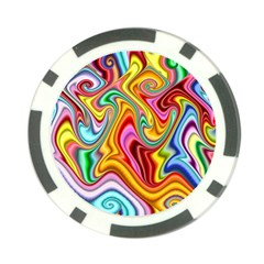 Rainbow Gnarls Poker Chip Card Guard by WolfepawFractals