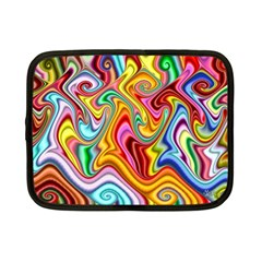 Rainbow Gnarls Netbook Case (small)  by WolfepawFractals