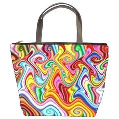 Rainbow Gnarls Bucket Bags by WolfepawFractals