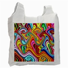 Rainbow Gnarls Recycle Bag (one Side) by WolfepawFractals