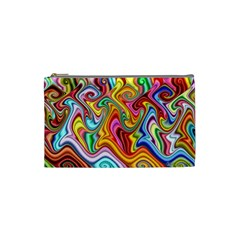 Rainbow Gnarls Cosmetic Bag (small)  by WolfepawFractals