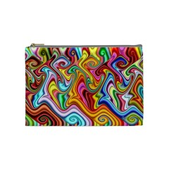 Rainbow Gnarls Cosmetic Bag (medium)  by WolfepawFractals