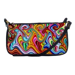Rainbow Gnarls Shoulder Clutch Bags by WolfepawFractals