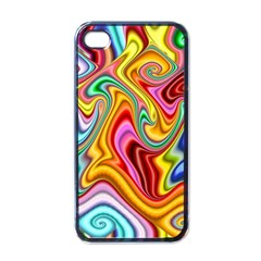 Rainbow Gnarls Apple Iphone 4 Case (black) by WolfepawFractals