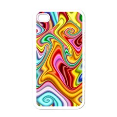 Rainbow Gnarls Apple Iphone 4 Case (white) by WolfepawFractals