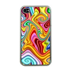 Rainbow Gnarls Apple Iphone 4 Case (clear) by WolfepawFractals