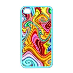 Rainbow Gnarls Apple Iphone 4 Case (color) by WolfepawFractals