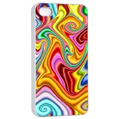 Rainbow Gnarls Apple Iphone 4/4s Seamless Case (white) by WolfepawFractals