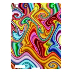 Rainbow Gnarls Apple Ipad 3/4 Hardshell Case by WolfepawFractals