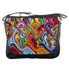 Rainbow Gnarls Messenger Bags by WolfepawFractals