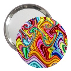 Rainbow Gnarls 3  Handbag Mirrors by WolfepawFractals