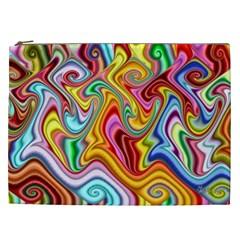 Rainbow Gnarls Cosmetic Bag (xxl)  by WolfepawFractals