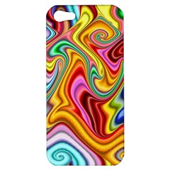 Rainbow Gnarls Apple Iphone 5 Hardshell Case by WolfepawFractals