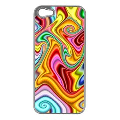 Rainbow Gnarls Apple Iphone 5 Case (silver) by WolfepawFractals