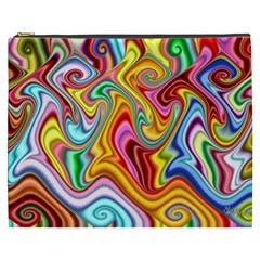 Rainbow Gnarls Cosmetic Bag (xxxl)  by WolfepawFractals