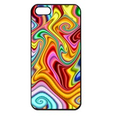 Rainbow Gnarls Apple Iphone 5 Seamless Case (black) by WolfepawFractals