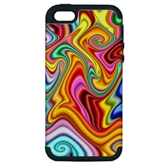 Rainbow Gnarls Apple Iphone 5 Hardshell Case (pc+silicone) by WolfepawFractals