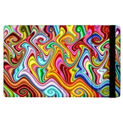 Rainbow Gnarls Apple Ipad 3/4 Flip Case by WolfepawFractals