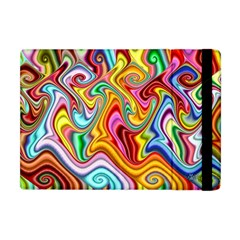 Rainbow Gnarls Apple Ipad Mini Flip Case by WolfepawFractals