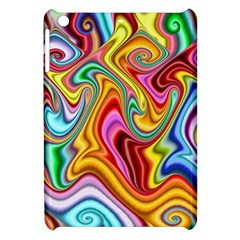 Rainbow Gnarls Apple Ipad Mini Hardshell Case by WolfepawFractals