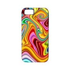 Rainbow Gnarls Apple Iphone 5 Classic Hardshell Case (pc+silicone) by WolfepawFractals