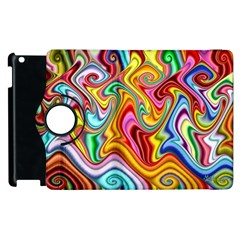 Rainbow Gnarls Apple Ipad 3/4 Flip 360 Case by WolfepawFractals
