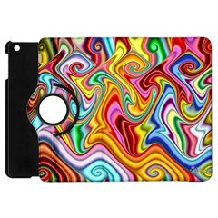 Rainbow Gnarls Apple Ipad Mini Flip 360 Case by WolfepawFractals