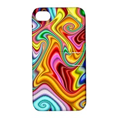 Rainbow Gnarls Apple Iphone 4/4s Hardshell Case With Stand by WolfepawFractals