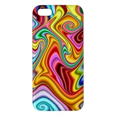 Rainbow Gnarls Apple Iphone 5 Premium Hardshell Case by WolfepawFractals