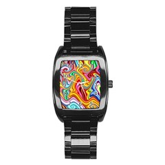 Rainbow Gnarls Stainless Steel Barrel Watch by WolfepawFractals