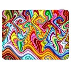 Rainbow Gnarls Samsung Galaxy Tab 7  P1000 Flip Case by WolfepawFractals