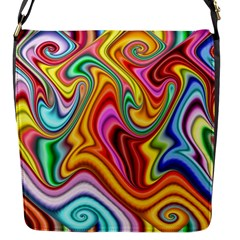 Rainbow Gnarls Flap Messenger Bag (s) by WolfepawFractals
