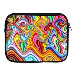 Rainbow Gnarls Apple Ipad 2/3/4 Zipper Cases by WolfepawFractals