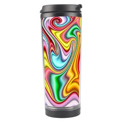 Rainbow Gnarls Travel Tumbler by WolfepawFractals