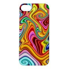 Rainbow Gnarls Apple Iphone 5s/ Se Hardshell Case by WolfepawFractals