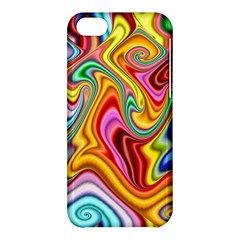 Rainbow Gnarls Apple Iphone 5c Hardshell Case by WolfepawFractals