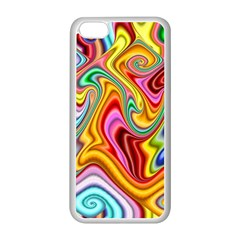 Rainbow Gnarls Apple Iphone 5c Seamless Case (white) by WolfepawFractals
