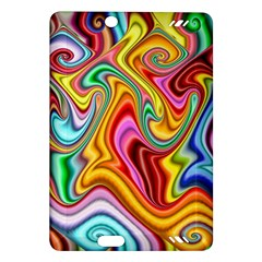 Rainbow Gnarls Amazon Kindle Fire Hd (2013) Hardshell Case by WolfepawFractals