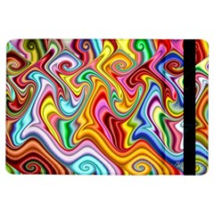 Rainbow Gnarls Ipad Air Flip by WolfepawFractals