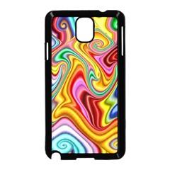 Rainbow Gnarls Samsung Galaxy Note 3 Neo Hardshell Case (black) by WolfepawFractals
