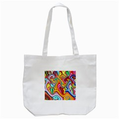 Rainbow Gnarls Tote Bag (white) by WolfepawFractals