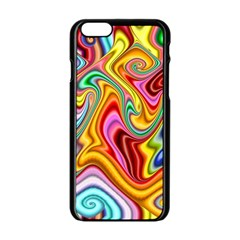 Rainbow Gnarls Apple Iphone 6/6s Black Enamel Case by WolfepawFractals