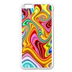 Rainbow Gnarls Apple Iphone 6 Plus/6s Plus Enamel White Case by WolfepawFractals